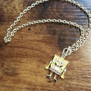 Rhinestone Spongebob Necklace